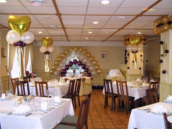 Ресторан Стокгольм - фотография 4 - Зал ресторана в отеле Катерина Сити на Павелецкой подходит для проведения свадебных и корпоративных банкетов.  Максимальная вместимость - до 80 человек.
