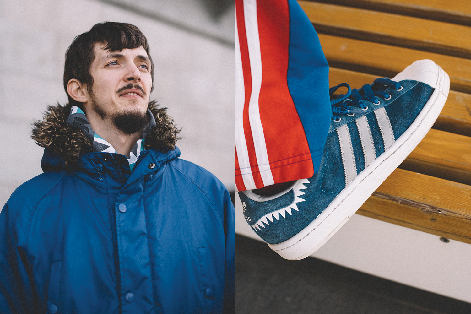 Сергей Дрозд и его adidas Originals Suprerstar Lite Shark