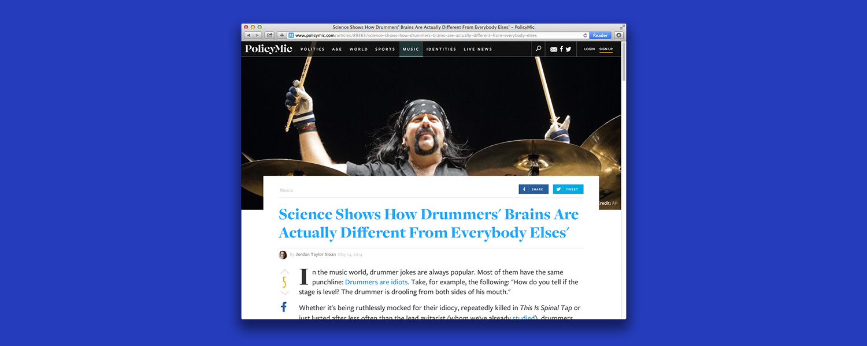 Почему барабанщики умнее и счастливее