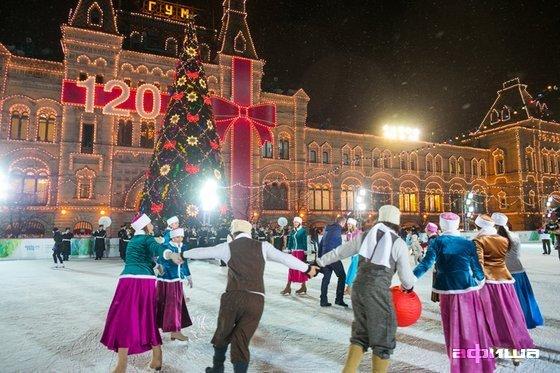 Фото каток на Красной площади