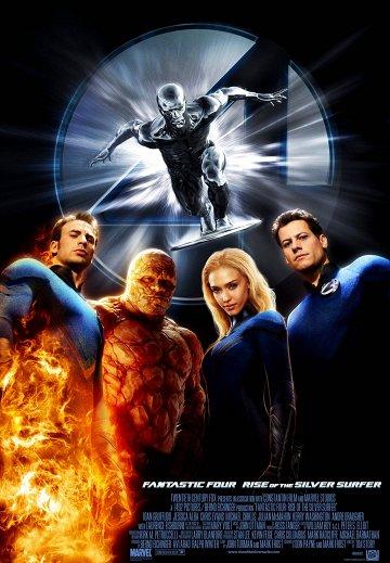 Постер Фантастическая четверка: Вторжение серебряного серфера