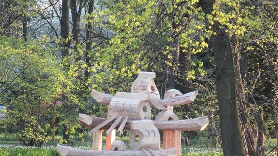 Ленд-арт в Ботаническом саду