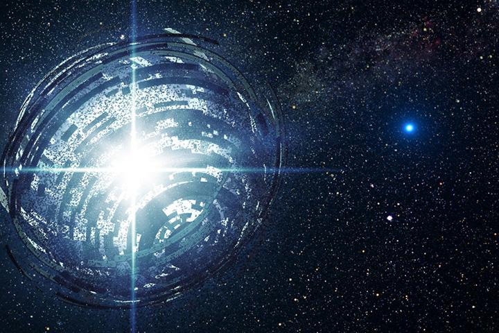 Сфера Дайсона в представлении фантастов — гипотетическая структура из подобия солнечных батарей, которая может максимально эффективно использовать энергию звезды