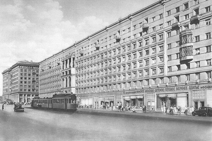 Краснопрудная, 22–24, архитектор — З.М.Розенфельд, 1937 год