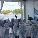 Ресторан Барабуля - фотография 1 - Банкетный зал с видом на залив