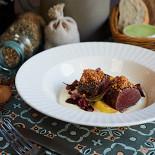 Ресторан Schengen - фотография 6 - Филе оленя с кремом из пастернака и сливами в вине