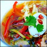 Ресторан Рецептор - фотография 6 - Корейский суп с лапшой Куксу
