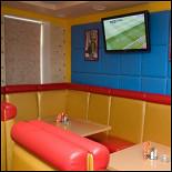 Ресторан Арена - фотография 1 - Мягкая мебель и убоство просмотра