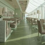 Ресторан Очень домашнее кафе - фотография 1 - Общее пространство поделено на две зоны - для курящих и некурящих.