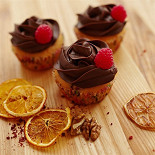 Ресторан Cup Cakes - фотография 4 - Малина с шоколадом