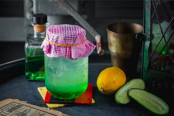 лимонад из огурца, дыни и лимона (350 р.)