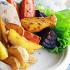 Ресторан Индейка - фотография 3 - Картошка по-деревенски и печеные овощи - отличный гарнир для индейки.
