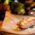 """Ресторан Dusha - фотография 9 - Стейк из мурманской сёмги в миндальной корочке с соусом """"Песто"""""""