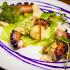 Ресторан Акапелла - фотография 8 - Осьминог на гриле с хумусом, картофельным пюре и савойской капустой