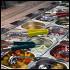 Ресторан Открытая кухня - фотография 2 - Открытый бар для создания своих салатов и скрамбал!