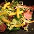 Ресторан День - фотография 3 - Салат с ягненком, яблоками и апельсиновым соусом