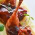 Ресторан Le boat - фотография 7 - Перепелка в соусе из трав, меда и вина с картофельным пюре