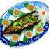 "Ресторан Синяя река - фотография 10 - Салат ""Цветки банана"", 230 руб."