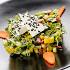 """Ресторан Кабинет - фотография 4 - Салат """"Греческий"""" с листьями салата латук, маслинами и сыром фета в кунжуте"""