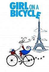 Постер Девушка на велосипеде