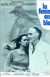 Постер Женщина в голубом