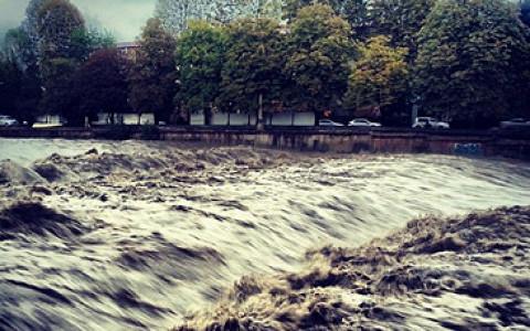 Город во время потопа