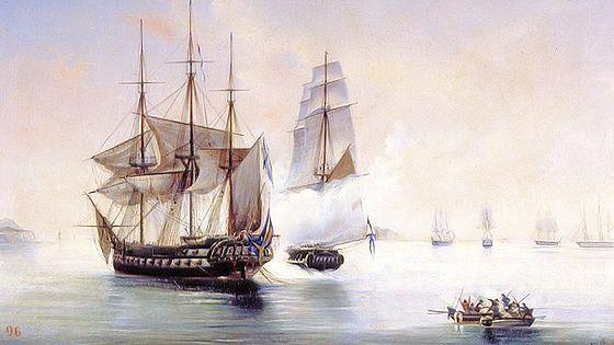 Морские сражения и флотоводцы России