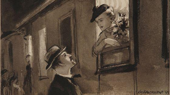 «Кукрыниксы». Иллюстрации к рассказу «Дама с собачкой» А.П.Чехова