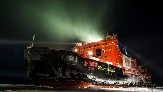 Олимпийский огонь на Северном полюсе