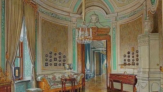 Гатчинский дворец в акварелях Эдуарда Гау и Луиджи Премацци