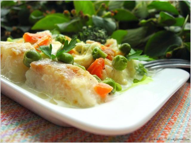 рецепт трески овощах фото