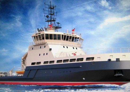 НаСанкт-Петербургском предприятии «Алмаз» состоялся вывод изэллинга корпуса ледокола «Евпатий Коловрат»