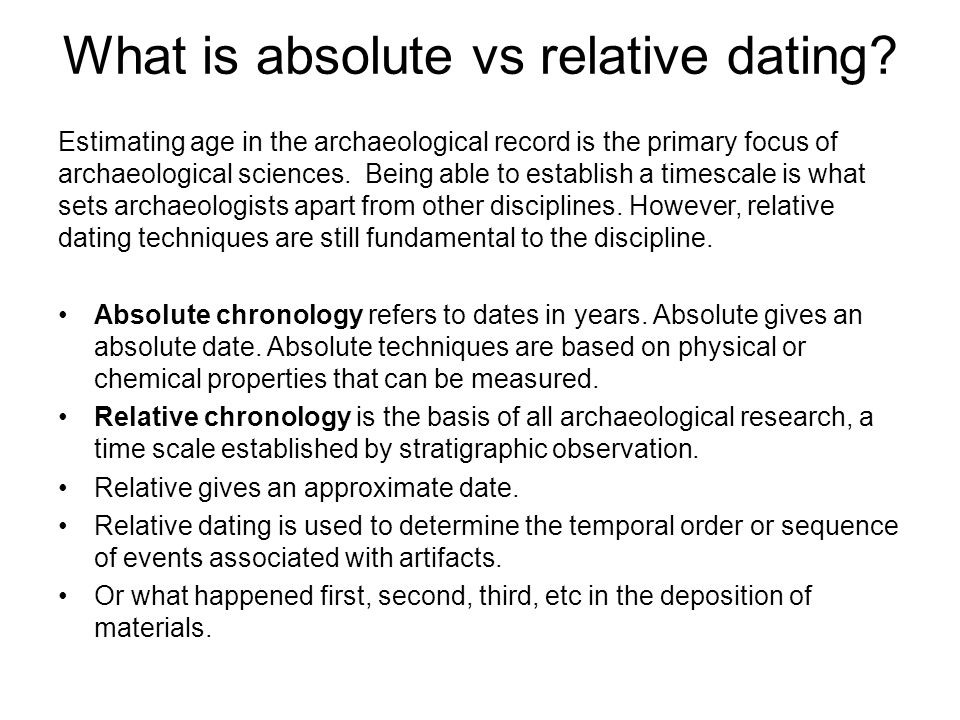 Examples of relative dating in archaeology