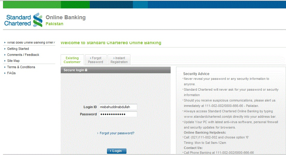 Standardchartered retirement portal online net banking games