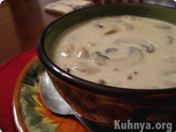 Крем суп из грибов рецепт с фото