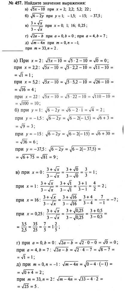 Решебник по математике 8 класса гдз