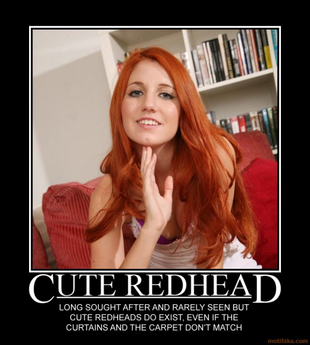 Anal Redhead Demotivational Poster - High definition foot fetish