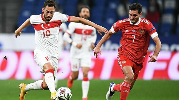 Сборная России сыграла вничью скомандой Турции вматче Лиги наций