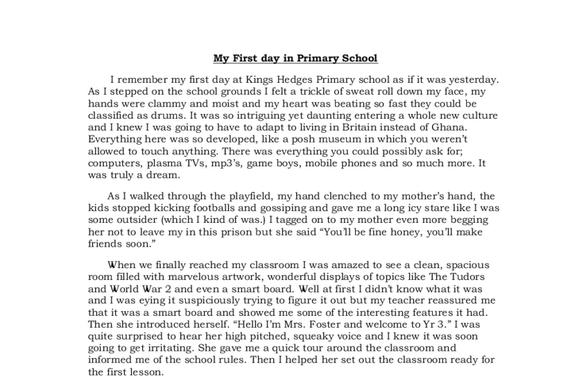 Write a narrative essay on my most memorable day