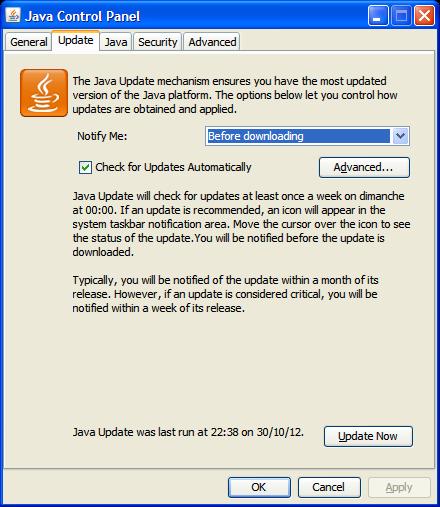 Manual Java Update Windows 7 - WordPresscom