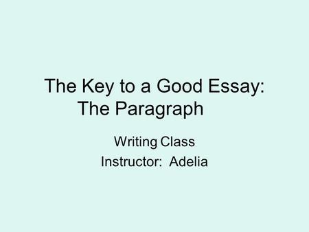 Maestro essay topics