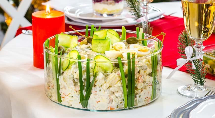 Праздничный салат с языком рецепт с фото