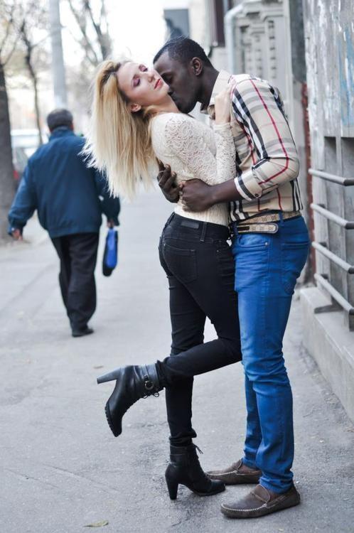 Russian man dating black woman