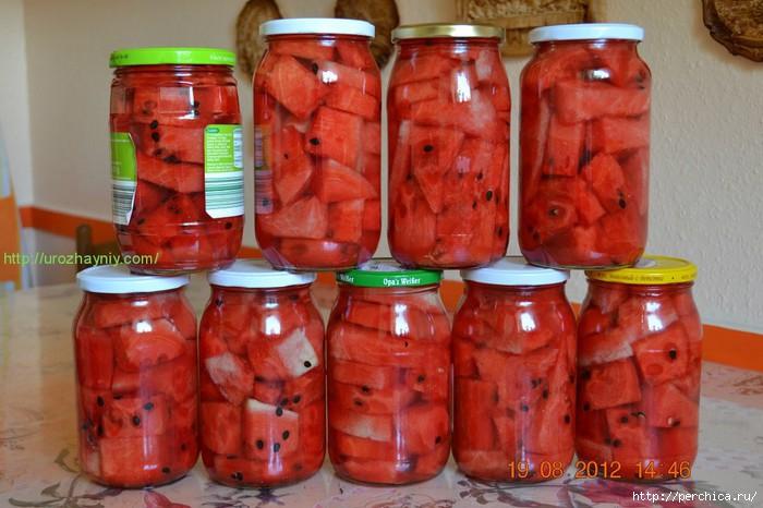 Консервирование арбузов на зиму рецепты с фото