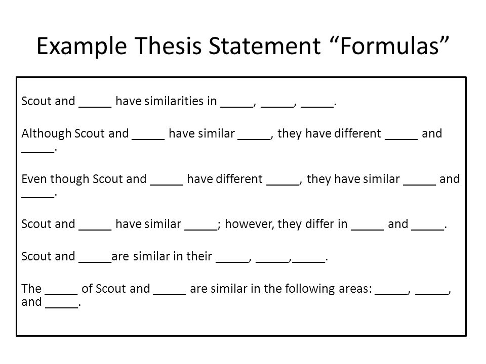Write my compare contrast essay thesis statement examples