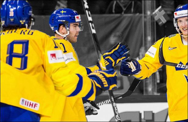 Сборная Швеции переиграла Швейцарию