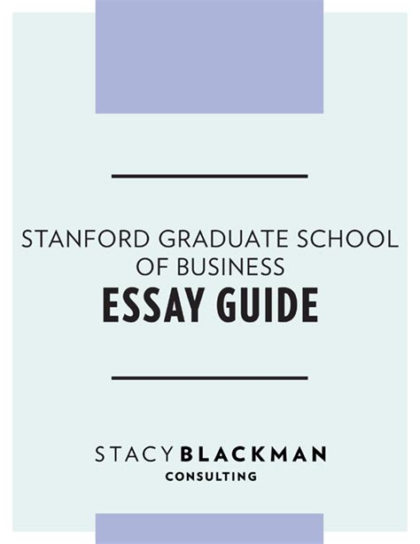 17 Stanford MBA Essay Questions – Analysis Tips