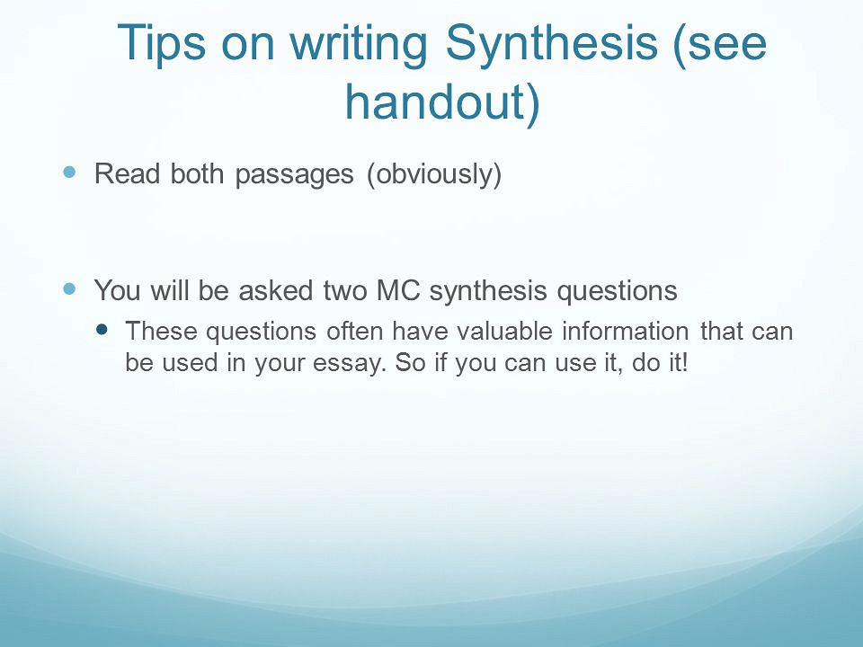 Write my synthesis essay topics