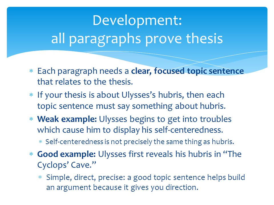 Example of a good thesis paragraph