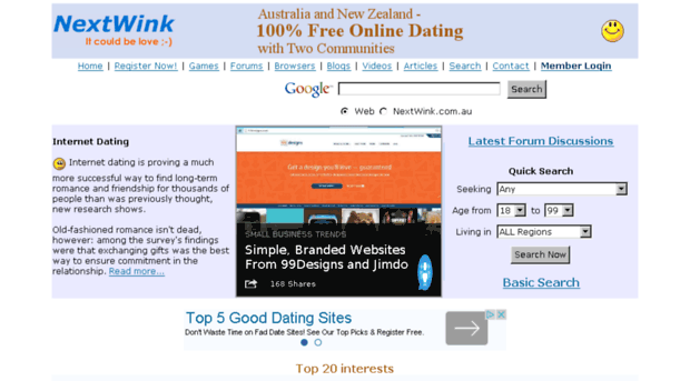 100 free online dating community website